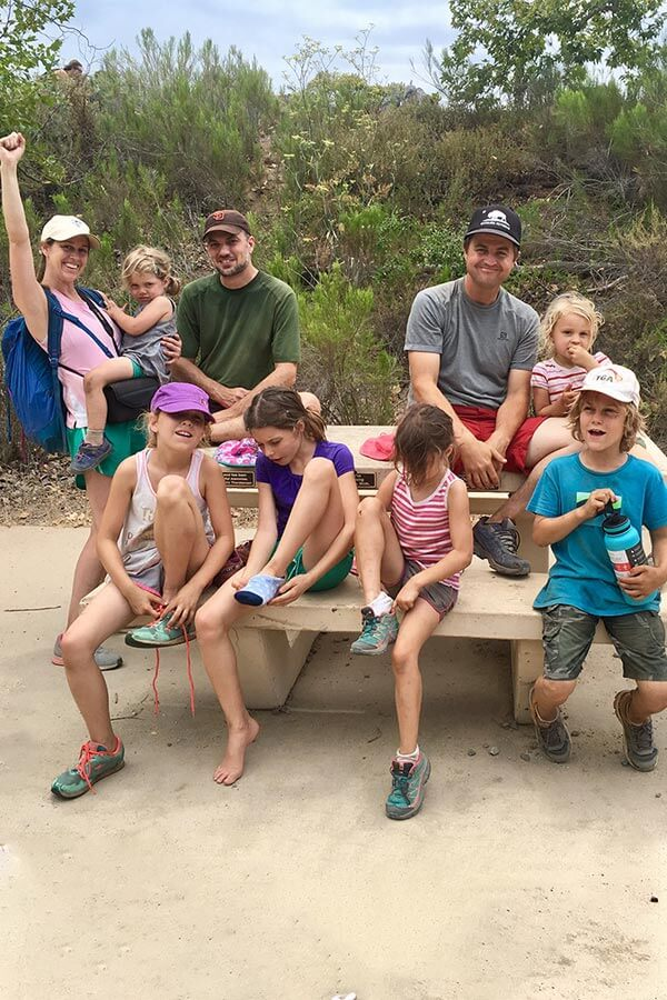 Hillery and her family out hiking in San Diego