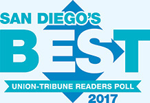 San Diego's Best Union-Tribune Readers Poll 2017 logo