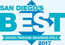 San Diego's Best Union-Tribune Readers Poll 2017 logo