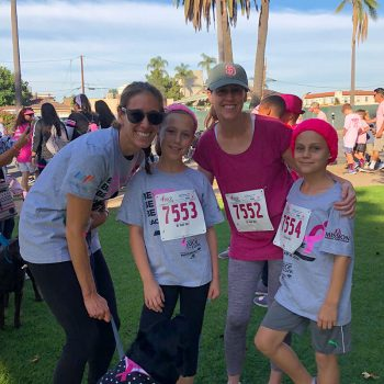 Hillery and Stefanie prepare for the Race For the Cure